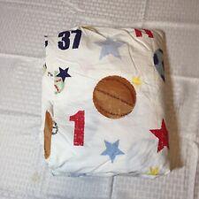 All Star Sports Full Flat Sheet Pottery Barn Kids Numbers Helmet Balls