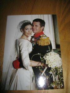 Crown Princess MARY Prince FREDERIK Postcard Wedding Denmark Royal #P8