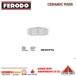 FERODO TQ BRAKE PADS REAR for TOYOTA LANDCRUISER VDJ200 2007+ 4.5L V8 DB1857FTQ