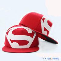 Womens Men Snapback Baseball Cap Flat Bill Visor Hip Hop Trucker Peak Hat BBoy A