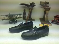 DISTRESSED COLE HAAN SPORT BLACK LEATHER BIT SLIP ON LOAFERS SHOES 9M