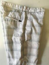 Men's Volcom Frickin White Plaid Shorts sz. 28