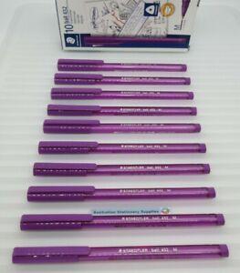 10 x Staedtler Purple Ice 432-35  Medium Ball Pen 43235 in stock