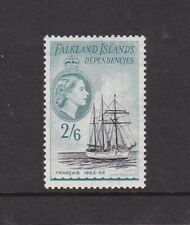 FALKLAND ISLANDS DEPENDENCIES 1954 SHIPS 2/6d LIGHTLY HINGED MINT