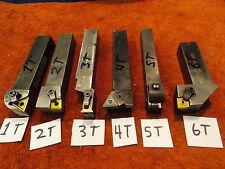 "1"" square shank Carbide Insert Lathe Tool Holder Valenite Kennametal Mix QTY1"