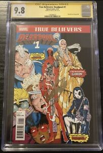 CGC 9.8 SS Deadpool #1 Stan Lee Signed True Believers: New Mutants #98 Cable