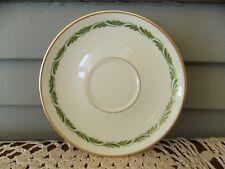 "Vintage Franciscan China Arcadia Green 6"" Saucer Plate w/ Gold Rim"