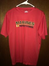 Under Armour Marines Shirt Mens Size Small Red
