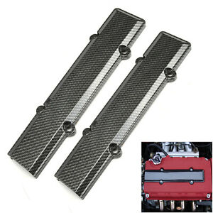 Carbon Fiber Spark Plug Engine Valve Cover For Honda Acura VTEC B16 B18 B series