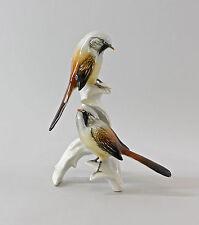 Figurines En Porcelaine Oiseaux Mésange-groupe barbu Ens H20cm 9997570