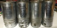4 SNAP ON 3/4 IN DRIVE DEEP SAE SOCKETS 6 POINT 1+1/16 INCH - 1+5/16 INCH