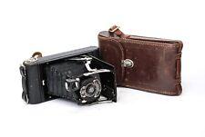☆EXC+++☆ Eastman Kodak Junior folding camera with case. Brilliant optics