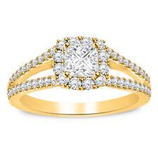 Diamond Princess-Cut 10K Yellow Gold Finish Bridal Set Engagement Ring 1.60 CTW