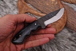 Miniature custom hand Forged Railroad high Carbon Steel Hunting fix blade knife