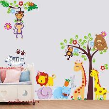 Design D-Giraffa/Scimmia/Leone/RABIT BAMBINO/KID Vivaio Parete Adesivo Decalcomania