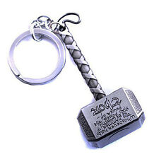 Marvel The Avengers Thor Thor's Hammer Mjolnir Pewter Metal Keyring Key Chain JS