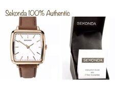 Sekonda Ladies Fashion Square Rose Gold Plated Case PU Leather Strap 2450 Watch