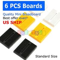 6pcs Black 170 Tie-point Prototype Solderless PCB Breadboard for Arduino DIY