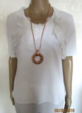 NWT WHITE LACE DEATIL TOP SIZE 12/14
