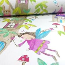 ARTHOUSE WOODLAND FAIRIES TREE FAIRY BEAR GIRLS GLITTER CHILDREN WALLPAPER WHITE