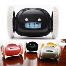 Creative Running Clocky Runaway Alarm Clock Moving Wheel Xmas Novelty+Free Gift