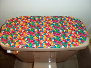 New Photo Real Jelly Beans Easter Fabric--Sm Table Runner--Toilet Tank Topper