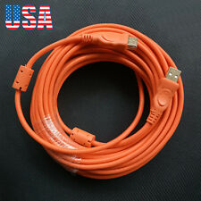 33FT Nylon Braided USB 2.0 A Male to A Female Extension Cable PC Laptop Extend