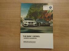 BMW 1 Series Owners Handbook/Manual 15-17