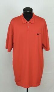 Nike Dri-Fit Polo Golf 2XL Performance Shirt Red Black Check Solid Flat Athletic