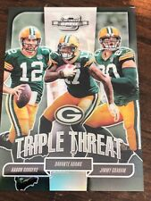 AARON RODGERS 2018 PANINI CONTENDERS OPTIC SILVER TRIPLE THREATS PACKERS 3/175