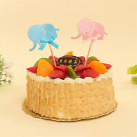 10pcs Elephant Cupcake Toppers Birthday Party Favors Children Cake Decoration LY