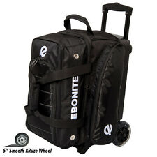 Ebonite Eclipse Double Roller 2 Ball Bowling Bag Black