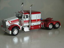 "DCP WHITE RED PETERBILT 379 60"" SLEEPER CAB ONLY 1/64 DIECAST 33258"