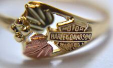 GOLD 10K Harley Davidson LEAF AND GRAPE RING, SIZE 7 !