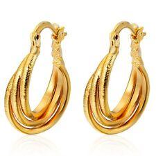 Unique Jewelry 14K Yellow Gold Filled Charm Womens Hoop huggie Earrings Lot