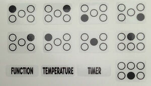 Cooker Oven Stove Range Hob Stickers Symbols Replacement Labels Knob Decals