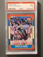 1986 Fleer #72 Xavier McDaniel Rookie PSA 9 Mint Seattle Supersonics