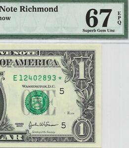 2003 $1 RICHMOND * STAR * 🌟 FRN, PMG SUPERB GEM UNCIRCULATED 67 EPQ BANKNOTE