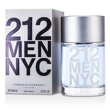 NEW Carolina Herrera 212 After Shave Splash 3.4oz Mens Men's Perfume