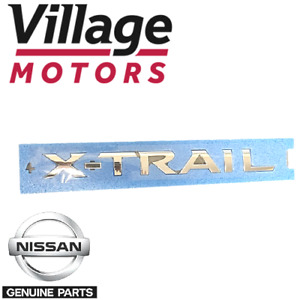 Genuine Nissan 'X-TRAIL' Chrome Decal / Badge Stick On 84895-4CL0A