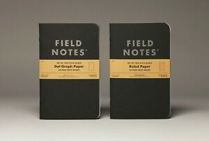 Field Notes Pitch Black Edition Ruled 3-Pack Memo Books