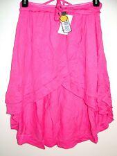 NEW DIESEL Wrap Skirt High-Low Hemline Pink Elastic Waist 100% Rayon Authentic S