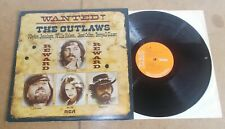 THE OUTLAWS jennings nelson colter glaser : WANTED - UK LP 1976 - RCA RS 1048