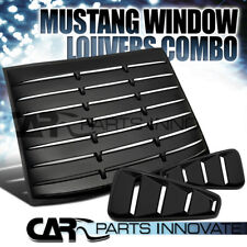 05-14 Mustang Coupe Black 1/4 Side Window Louvers+Rear Sun Shade Scoop Cover
