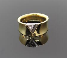 GOLDRING TRIANGEL - DIAMANT 0,10ct LUPENREIN NEU VK EUR 1890,-