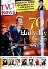 JOHNNY HALLIDAY rare Belgian  Magazine 70 ans