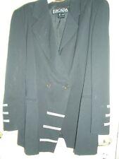 BLACK & WHITE ESCADA LUXUS Blazer STATEMENT Jacket Jacke 44/46schwarz Hochzeit