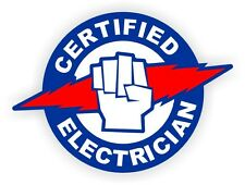 Certified Electrician Hard Hat / Helmet Sticker Label Electric Volts Arc Flash