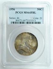 1956 Franklin Half Dollar, Slabbed & Graded MS64FBL, PCGS, FDHA34