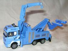 Machines de construction miniatures bleu en plastique